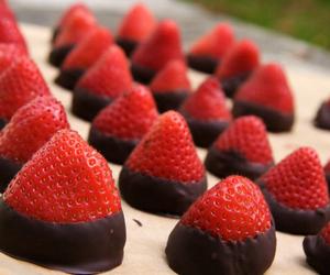 strawberry, chocolate, and girl image