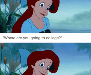 ariel, college, and disney image