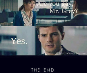 fifty shades of grey, christian grey, and funny image