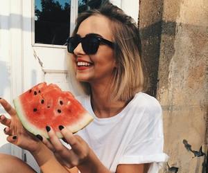 girl, sunglasses, and pretty image