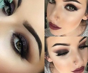 black, eyebrows, and eyes image