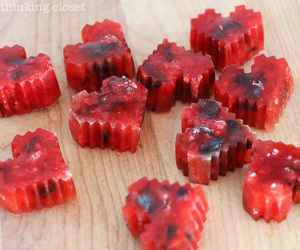 cubes, heart, and ice cubes image