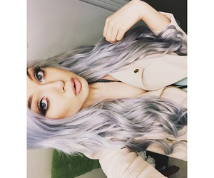 blonde, fashion, and lavender hair image