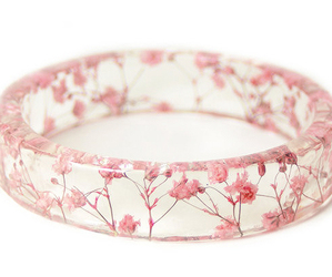 flowers, pink, and ring image