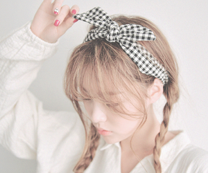 bow, braids, and clothing image