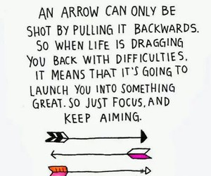 quote, arrow, and life image