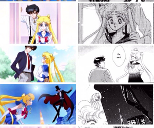 endymion, sailor moon, and tuxedo mask image