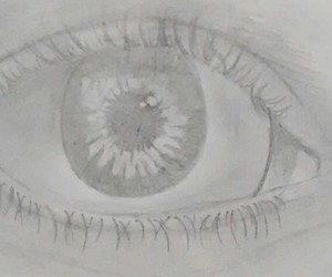 draw, eye, and pencil image