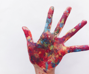 colors, hands, and photography image
