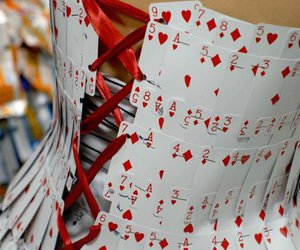 cards, corset, and dress image