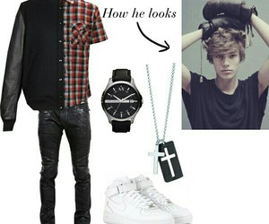 boy, necklace, and Polyvore image