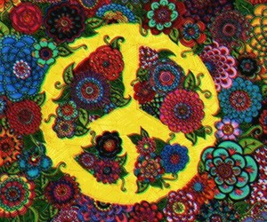 peace, flowers, and hippie image