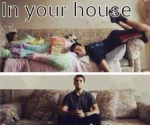 funny, house, and true image