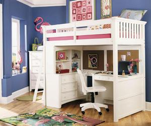 bunk bed, bed with desk underneath, and kids bunk beds with desk image