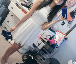 delias, white dress, and reyna delatorre image