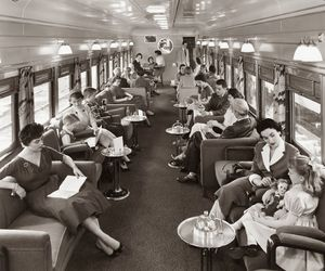 1950s, 50s, and train image