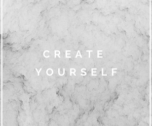 quote, marble, and create yourself image