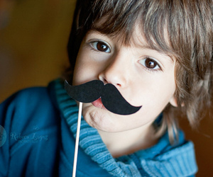 cute, child, and mustache image
