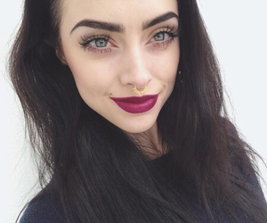 piercing, eyes, and makeup image