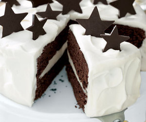 cake, chocolate, and stars image