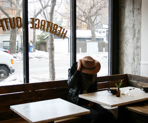 cafe, coffee, and cold image