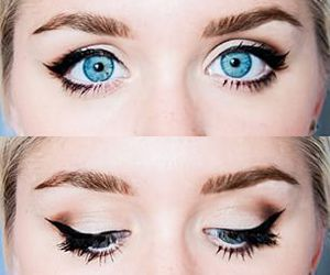 beautiful, eyes, and blue image