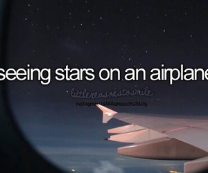 stars, airplane, and quote image