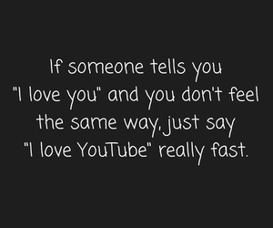 funny, love, and youtube image