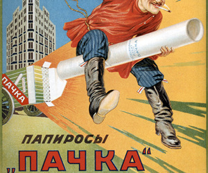 ad, russian, and tobacco image