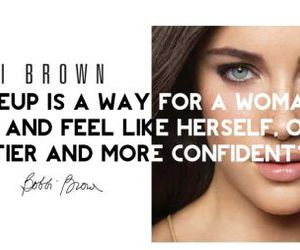 confidence, bobbi brown, and makeup quotes image