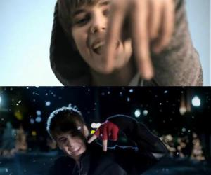 justin bieber, one time, and mistletoe image