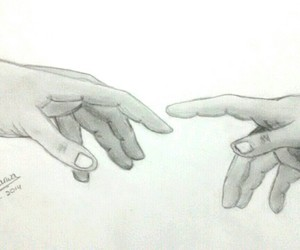 drawings, hands, and pencil drawings image