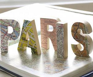 paris and map image