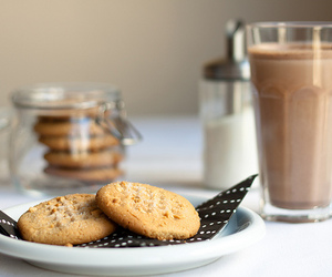 Cookies, drink, and food image