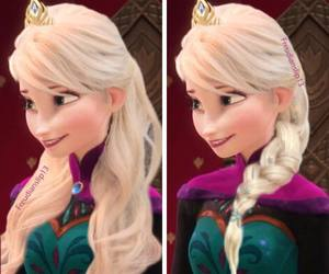 disney, hair, and elsa image