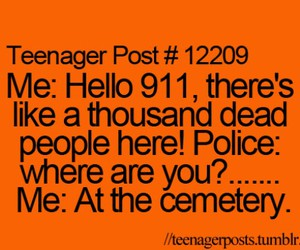 funny, teenager post, and cemetery image
