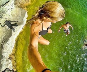 beach, go pro, and freedom image