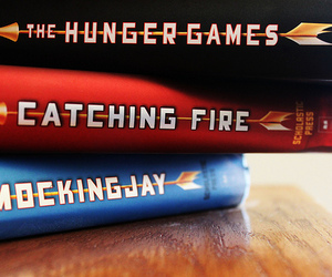 the hunger games, books, and catching fire image