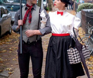 Mary Poppins, costume, and couple image