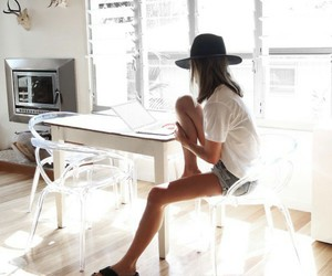 fashion, white, and hat image