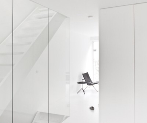 glass, minimal, and staircase image