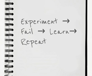 experiment, fail, and learn image