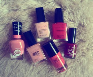 avon, pink, and red image