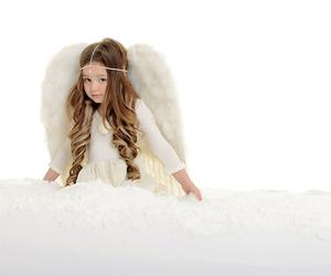 angel, little girl, and little angel image
