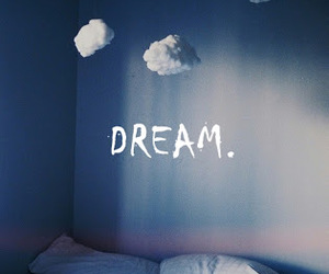Dream, clouds, and bed image