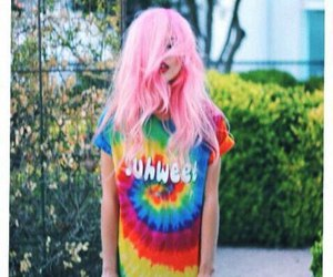 girl, hair, and colorful image