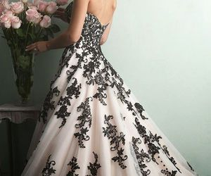 dress, black, and wedding image