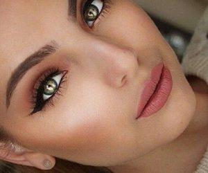 green eyes, natural, and make up image