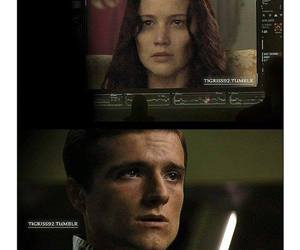 katniss everdeen, Jennifer Lawrence, and peeta mellark image