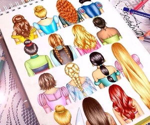 princess, disney, and hair image